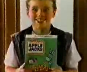 Old 1980s TV Commercial - Cereal - Apple Jacks