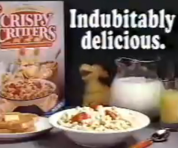 Old 1980s TV Commercial - Crispy Critters Cereal