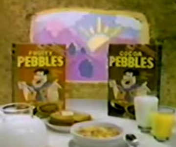 Old 1980s TV Commercial - Flintstone's Fruity Pebbles Cereal