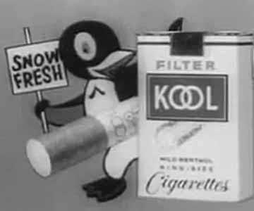 Old 1960s TV Commercial - Kool Cigarettes - Willie the Penguin