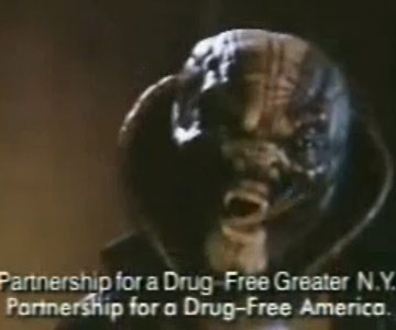 Old 1980s TV Commercial - Don't Do Drugs - Snake Drug Dealer