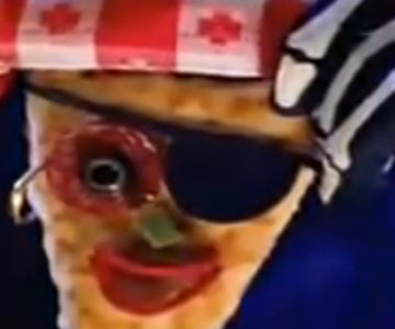 Old 1990s TV Commercial - Pizza Hut Halloween Pizza Head
