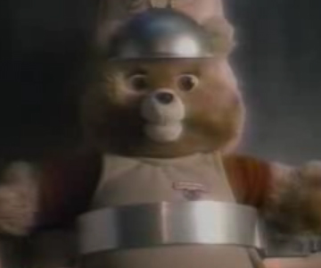Old 1980s TV Commercial - Teddy Ruxpin - It's Alive! (Yet another Frankenstein cliche)
