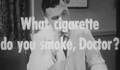Old 1940s TV Commercial - Camel Cigarettes - Doctor's Choice of Smoke