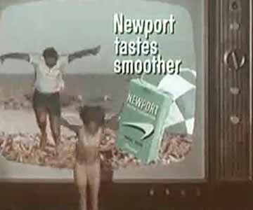 Old 1960s TV Commercial - Newport Cigarettes - Beach Couple Visits Through the TV