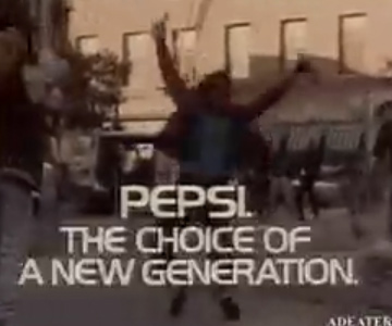 Old 1980s TV Commercial - Pepsi - Michael Jackson