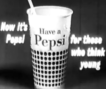 Old 1950s TV Commercial - Pepsi - Say Pepsi Please