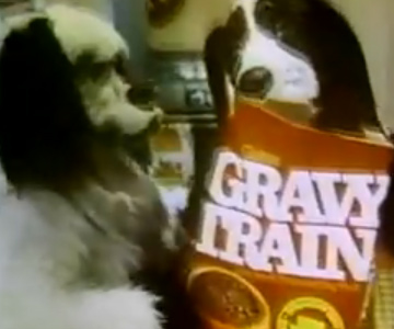 Old 1970s TV Commercial - Pet Food - Gravy Train Giant Domestic House Dogs