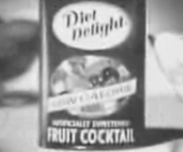 Old 1960s TV Commercial - Diet Delight Canned Fruit