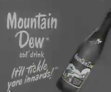 Old 1960s TV Commercial - Mountain Dew - It Tickles Your Innards!