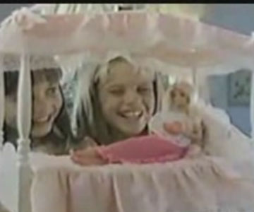 Old 1980s TV Commercial - Barbie Dream Bed