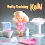 Barbie with Potty Training Kelly, she tinkles!