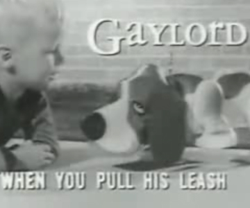 Old 1950s TV Commercial - Gaylord the Robotic Pup