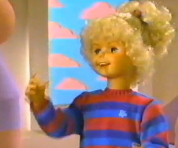 Old 1980s TV Commercial - Jill the Talking Doll (With the Enormously Long Neck)