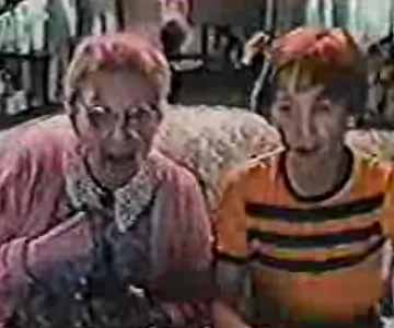 Old 1980s TV Commercial - Atari Berserk Commercial - Grandma and Grandson