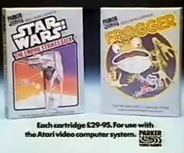 Old 1980s TV Commercial - Atari - Frogger and Star Wars