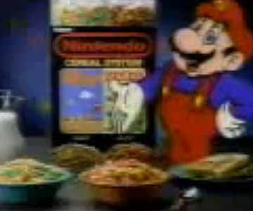 Old 1980s TV Commercial - Nintendo - It's a Cereal, Wow!