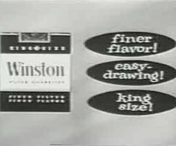 Old 1960s TV Commercial - Winston Cigarettes - At the Drive In